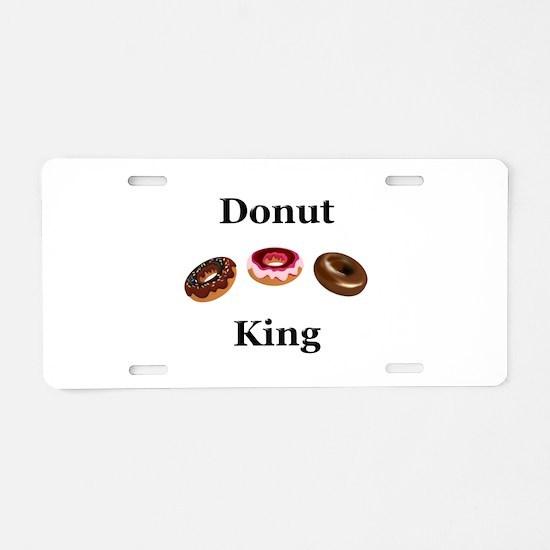 Donut King Aluminum License Plate