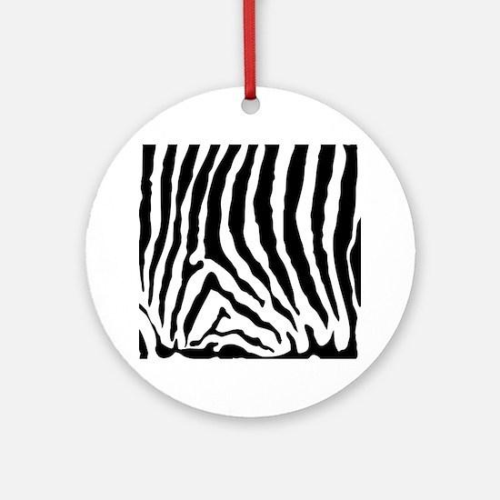Zebra Skin Pattern Ornament (Round)