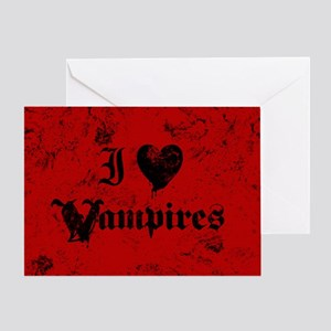 i-love-vampires_b Greeting Cards