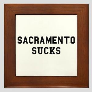 Sacramento Sucks Framed Tile