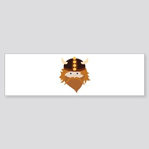 Viking Head Bumper Sticker