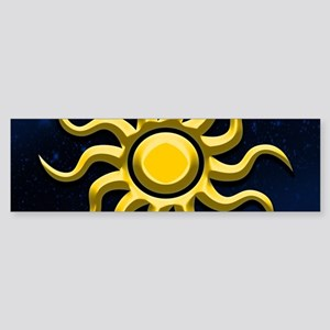 Sun In The Starry Sky Bumper Sticker
