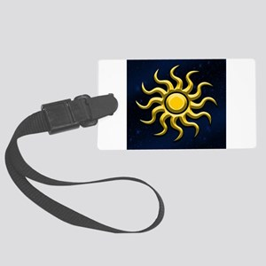 Sun In The Starry Sky Luggage Tag