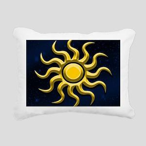 Sun In The Starry Sky Rectangular Canvas Pillow
