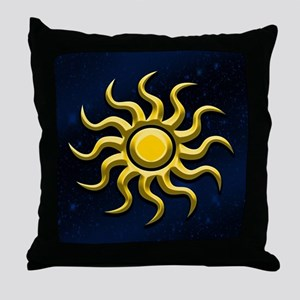 Sun In The Starry Sky Throw Pillow