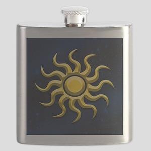 Sun In The Starry Sky Flask