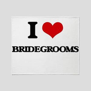 I Love Bridegrooms Throw Blanket