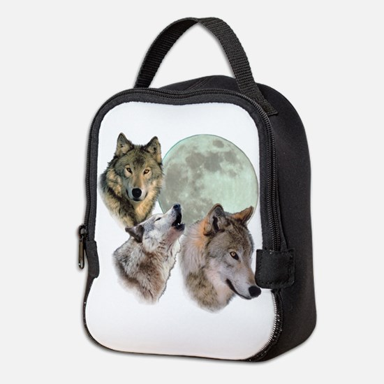 3 Wolf Moon Neoprene Lunch Bag