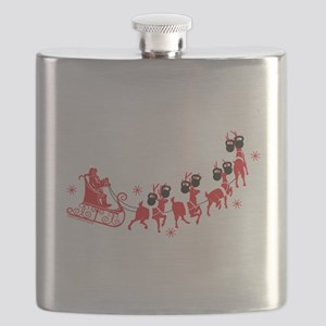 Reindeer Games Small Flask