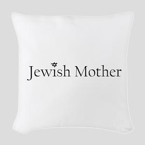 3-jewishmother Woven Throw Pillow