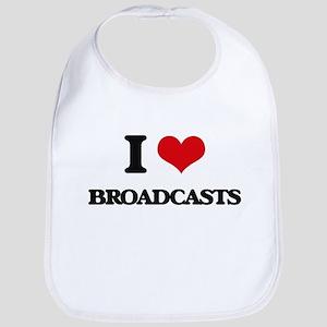 I Love Broadcasts Bib