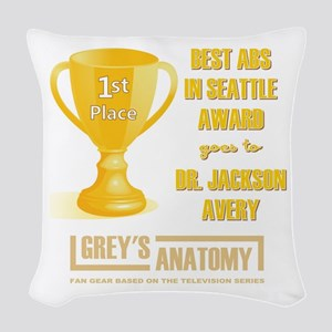 BEST ABS IN SEATTLE Woven Throw Pillow