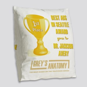 BEST ABS IN SEATTLE Burlap Throw Pillow