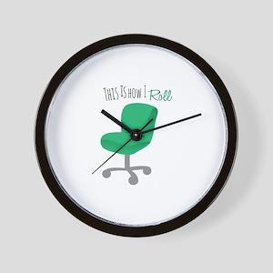How I Roll Wall Clock