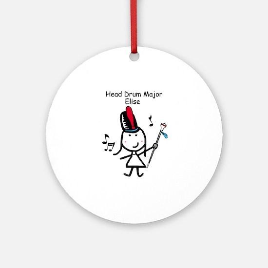Drum Major - Elise Ornament (Round)