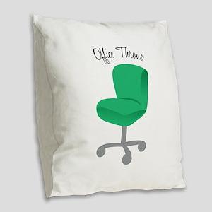 Office Throne Burlap Throw Pillow