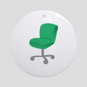 Office Chair Ornament (Round)