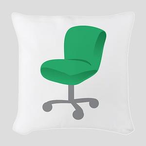 Office Chair Woven Throw Pillow