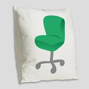 Office Chair Burlap Throw Pillow