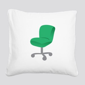 Office Chair Square Canvas Pillow