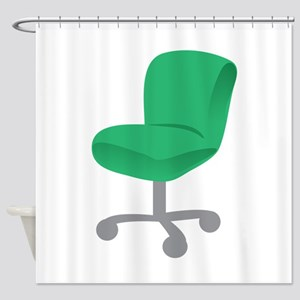 Office Chair Shower Curtain