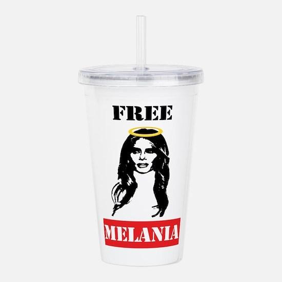 Free Melania Acrylic Double-wall Tumbler