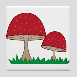 Gnome Mushroom Tile Coaster