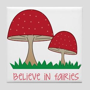 Believe In Fairies Tile Coaster