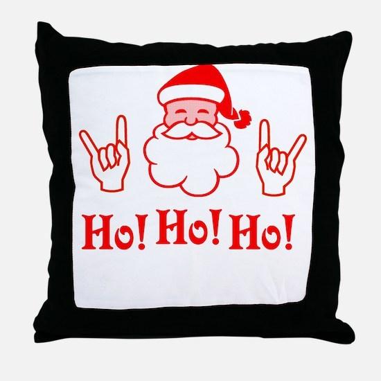 Cornu Claus Throw Pillow