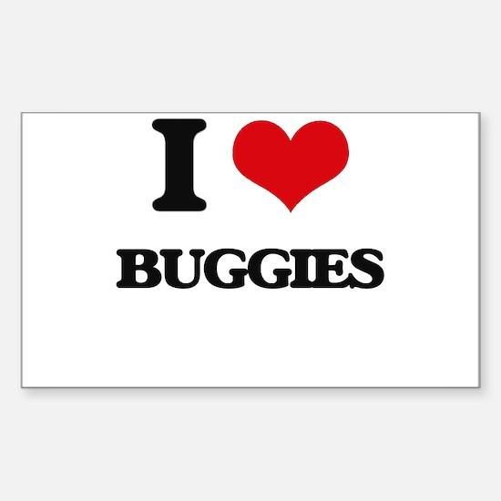 I Love Buggies Bumper Stickers