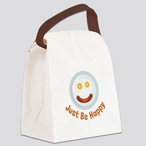 Just Be Happy Canvas Lunch Bag