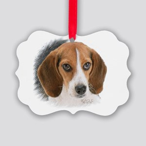 Beagle Close Up Picture Ornament