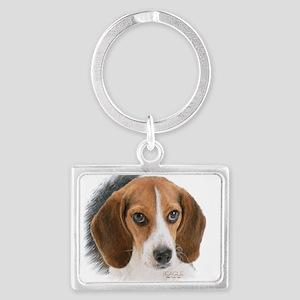 Beagle Close Up Landscape Keychain
