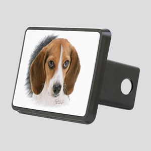Beagle Close Up Rectangular Hitch Cover