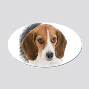 Beagle Close Up 20x12 Oval Wall Decal