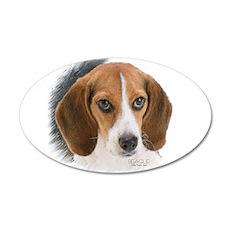 Beagle Close Up Wall Sticker