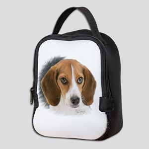 Beagle Close Up Neoprene Lunch Bag