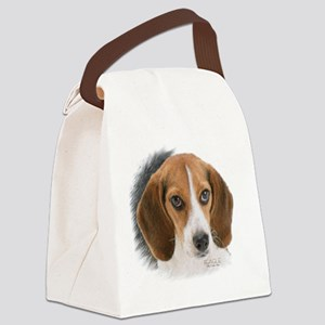Beagle Close Up Canvas Lunch Bag