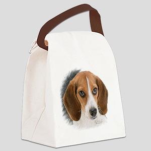 Beagle Close Up Canvas Lunch Bag