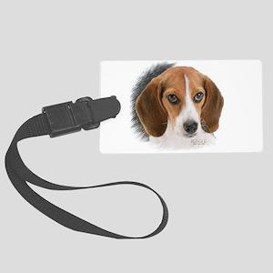 Beagle Close Up Large Luggage Tag