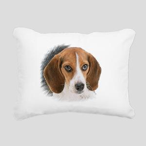 Beagle Close Up Rectangular Canvas Pillow