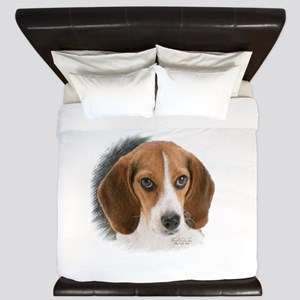 Beagle Close Up King Duvet