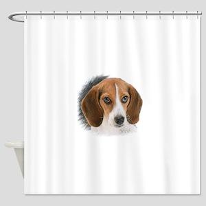 Beagle Close Up Shower Curtain