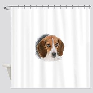 Beagle Close Up Shower Curtain