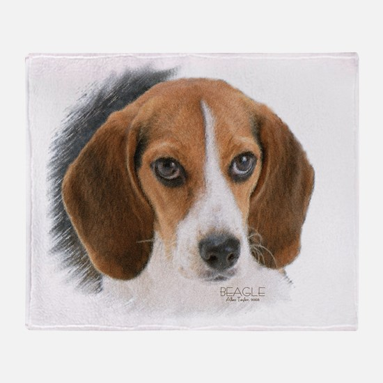 Beagle Close Up Throw Blanket