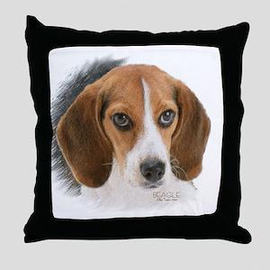 Beagle Close Up Throw Pillow