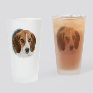 Beagle Close Up Drinking Glass