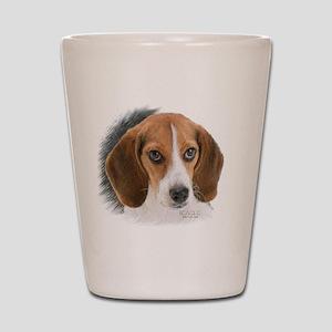 Beagle Close Up Shot Glass