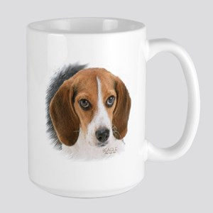 Beagle Close Up Large Mug Mugs