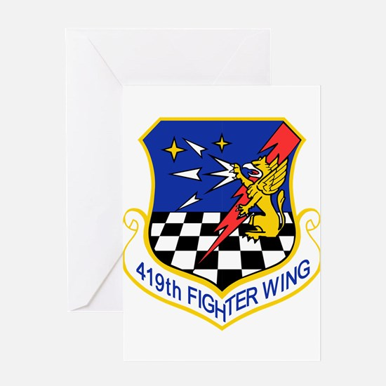 419_fighter_wing Greeting Cards